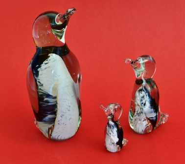 recycled glas pinguins