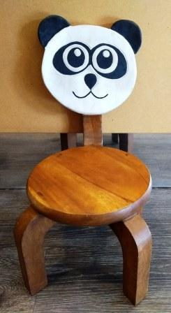 kinderstoel panda acaciahout thailand